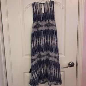 Bright blue and white sundress